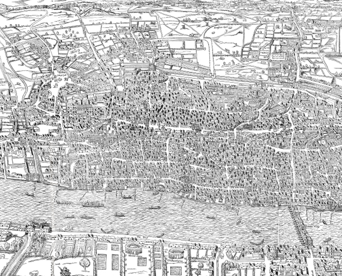 On the Agas map of London, medieval and early modern cities, and life